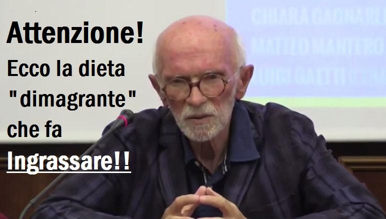 Prof.Berrino: Attenzione alla dieta dimagrante che fa Ingrassare. Diffidate delle Proteine.ECCO QUAL E'!