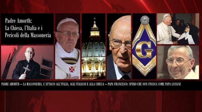 """Padre Amort:""""La Massoneria comanda il mondo Politico"""".La brama di potere ci porterà alla rovina.VIDEO"""