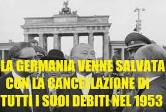 Anche la Germania ha i suoi DEBITI...Ma NON li Paga