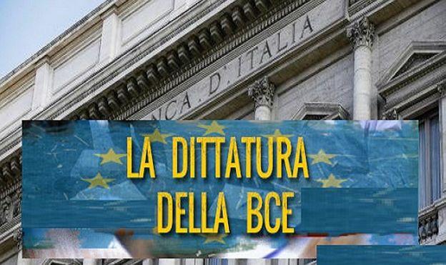 """Nella mani della DITTATRURA  BCE: """"Manovra un disastro insostenibile all' Italia""""."""