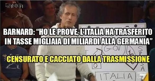 Barnard:Ho le prove che l'Italia regala miliardi alla Germania,non me lo hanno fatto dire