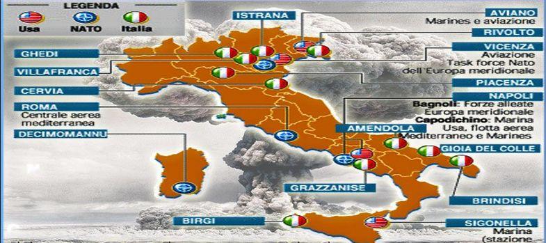 Bombe atomiche in Italia nelle nostre basi e nei nostri mari.Ma tutto tace...
