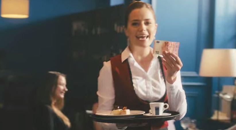 Spot BCE della nuova Banconota da 10€.Noi che ruolo abbiamo??! CAMERIERI...Si, Camerieri d'Europa! GUARDA IL VIDEO