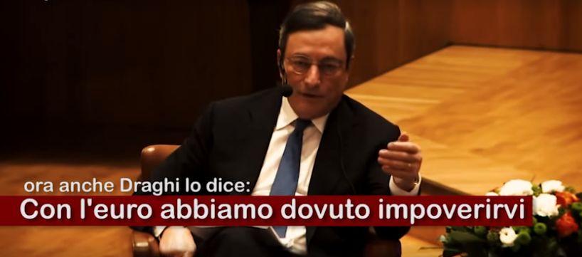 """M. Draghi: """"Abbiamo dovuto impoverirvi per essere competitivi"""". E questa è competitività?? IL VIDEO"""