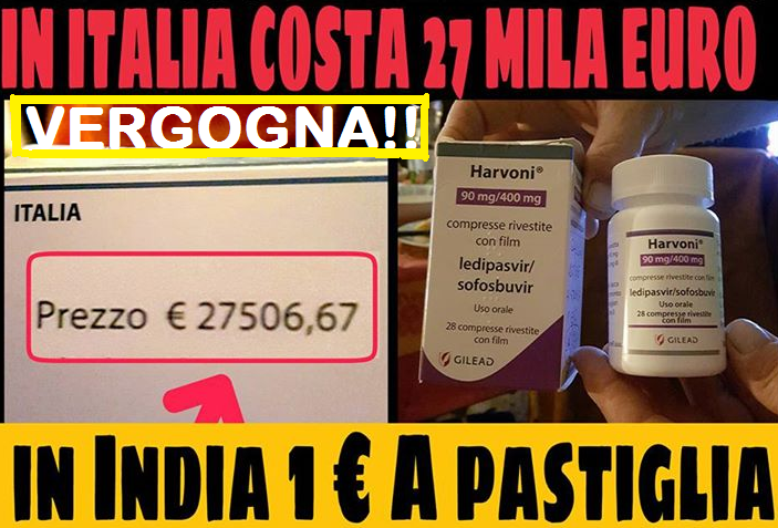 Quando la salute diventa Business. Il Farmaco Salva Vita che in Italia costa 45 Mila € e in India solo 1€