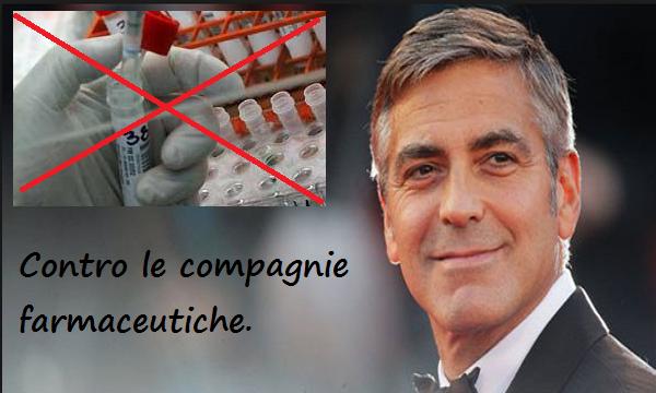 George Clooney DICE BASTA! Produce una serie Tv contro le compagnie farmaceutiche.