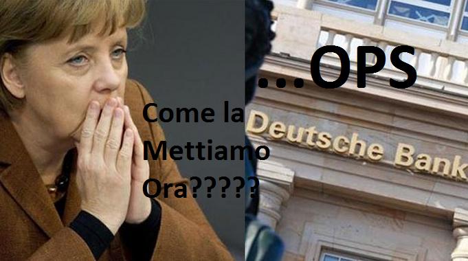 E' scoppiata la bomba Deutsche Bank. Abisso di 6,2 mld di perdite! Prima o poi tocca a tutti!