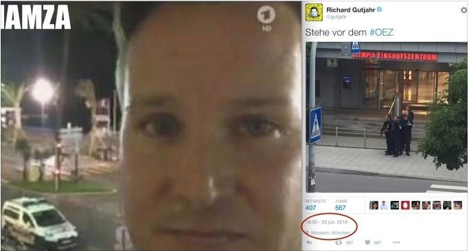 Lo stesso giornalista che ha fatto il video a Nizza era anche a Monaco....Un caso?