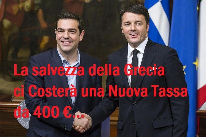 Salvare la Grecia costerà 400€ a contribuente! Invece di salvare noi...Salviamo gli altri.