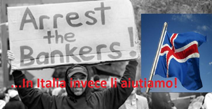 """Islanda: Condanna e imprigiona Banchieri corrotti per """"Collasso finanziario"""". IN ITALIA LI AIUTANO"""