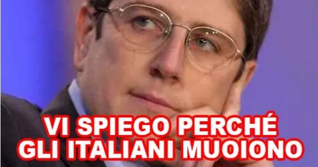 """Mario Giordano :""""E' una strage di italiani"""".Ecco che cosa ci uccide come in guerra"""