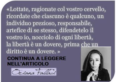 Oriana Fallaci e l'Islam. Le sue parole risuonano forti! Ecco cosa diceva.E' questo il mondo che volete?