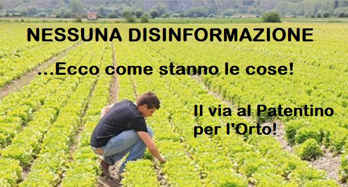Dal 26 Novembre, se vuoi coltivare il TUO orto, servirà il PATENTINO! Leggi i dettagli