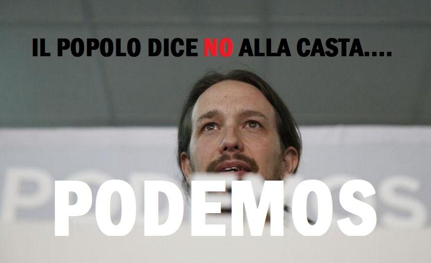 """Grido al Cambiamento:""""Podemos"""" vince in Spagna.Qui hanno risolto diversamente:Ci hanno tolto il voto"""
