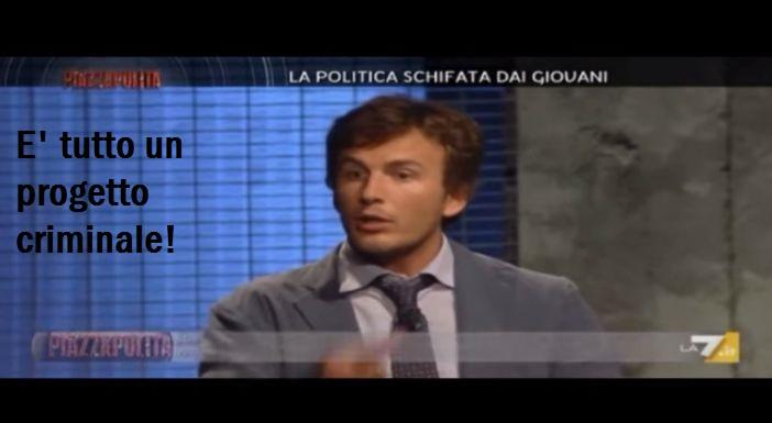 """D. Fusaro: """"L' Europa ha svuotato la nostra politica e ha annullato i giovani"""". E' tutto un progetto criminale.VIDEO"""