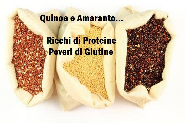 Quinoa e Amaranto. La soluzione per acquisire proteine mangiando senza Glutine