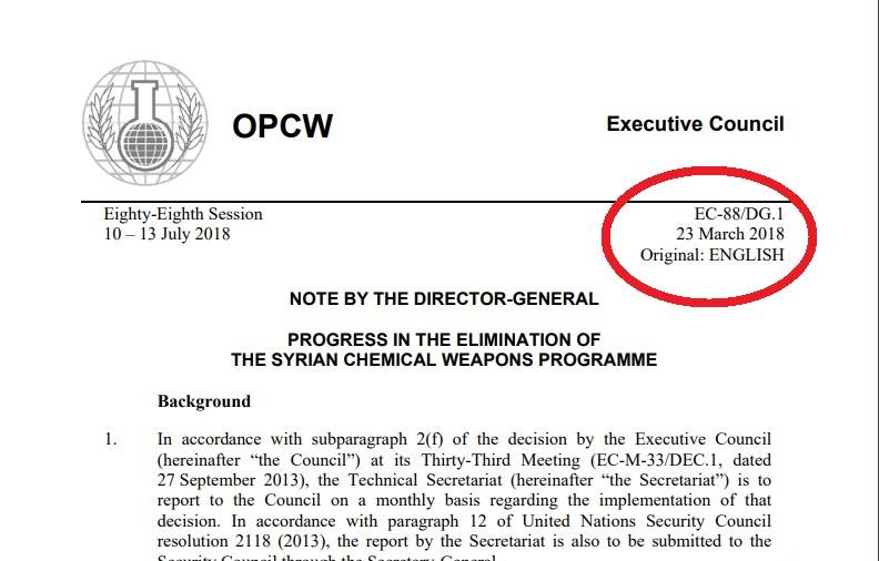Siria, rapporto OPAC: in quegli edifici non c'erano armi chimiche