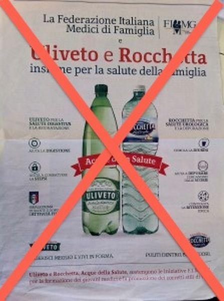 """Uliveto e Rocchetta: le acque della...TRUFFA! L'Antitrust le punisce per """"Slogan ingannevole!"""