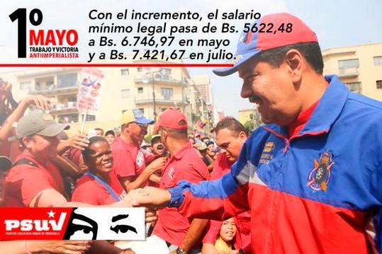 Il 1°maggio in Venezuela Maduro decreta l'aumento del 30%di salari e pensioni.E gli Usa si oppongono