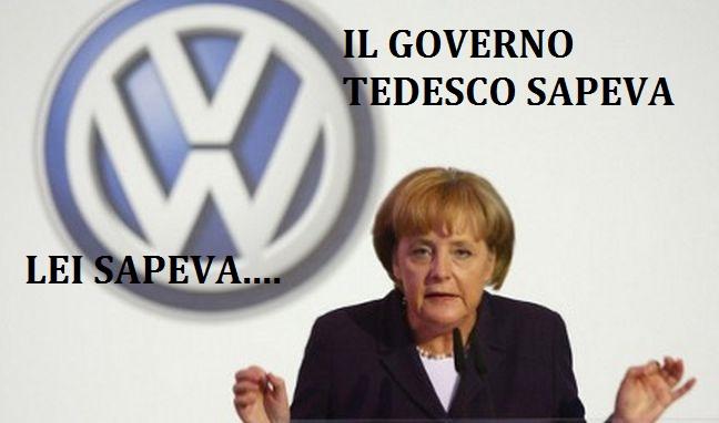 Volkswagen: un documento prova che la furbona Merkel sapeva. Ma tutto taceva...LEGGI
