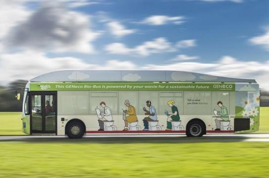 Ecco il Bio-Bus. L'autobus che va a escrementi e scarti alimentari già gira nel Regno Unito