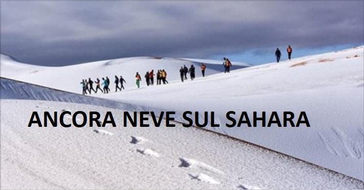 Cambiamenti climatici: ancora neve sul deserto del Sahara. Foto