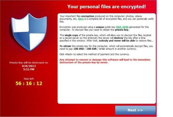 Cryptolocker : il virus che blocca tutti i documenti per estorcere denaro.L'allerta della polizia
