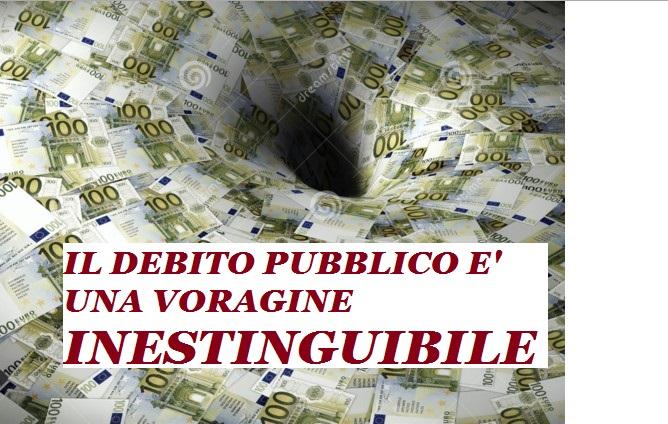 Volete finirla di prenderci in giro? Il debito pubblico è una voragine INESTINGUIBILE. Ecco perchè