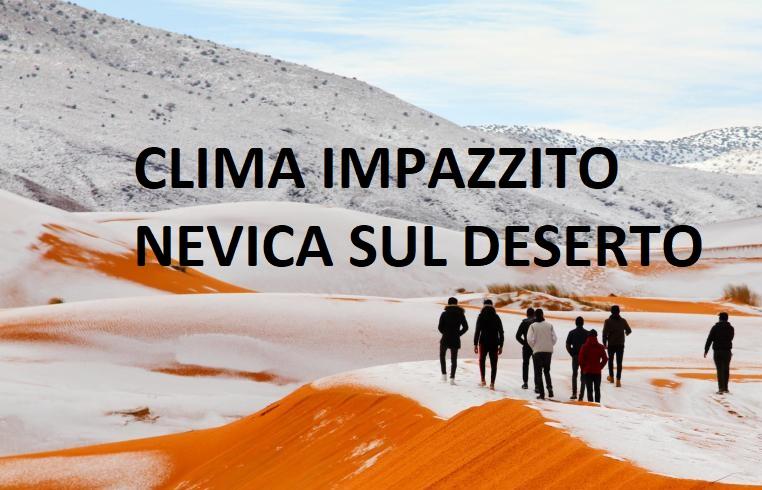 Deserto del Sahara: la nevicata che ha stupito tutti. Foto e video