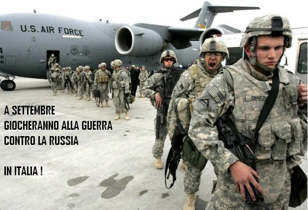 """A settembre esercitazione Nato in Italia per """"giocare alla guerra""""con la Russia.Ma nessuno lo sa"""