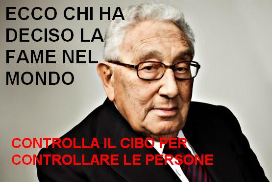 cibo e fame nel mondo Kissinger