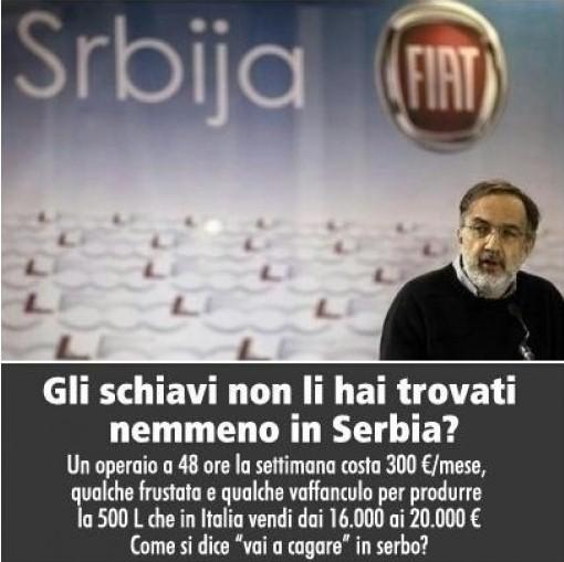 Operai in rivolta nella FIAT in Serbia,trattati come schiavi.Ferma la produzione della 500L
