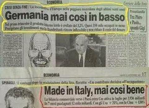 """Articoli del Corriere della sera del 1993:Italia""""alle stelle""""Germania""""alle stalle"""".Ecco il perchè dell'Euro"""