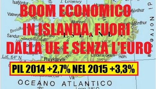 L'Islanda fa boom:fuori dall' UE e senza Euro si cresce!Ma non lo ammetteranno mai...