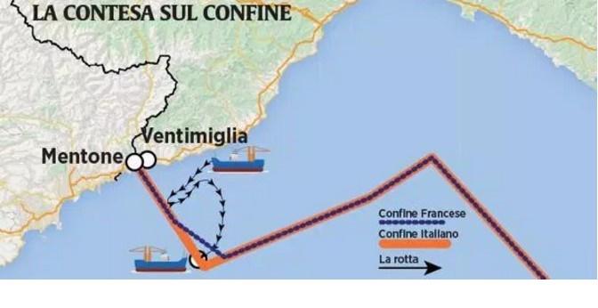 L'italia regala un pezzo di mare alla Francia ricco di gamberoni e pesci spada,alle spalle di tutti....