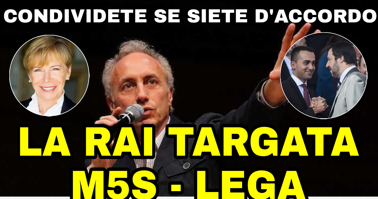 La nuova Rai targata M5S-LEGA: Gabanelli Presidente e Travaglio al TG1