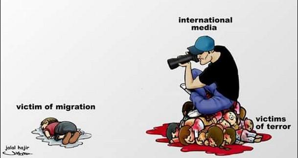 Le vittime dell'immigrazione sono strumentalizzabili,quelle di terrorismo sono scomode.La strategia dei media