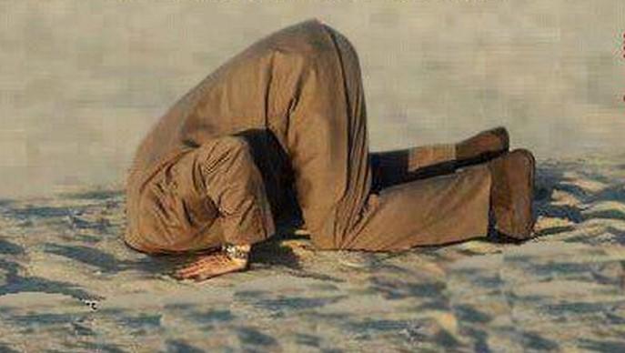 """Non votare è come mettere la testa nella sabbia.Ma attenzione ,il """"culo"""" resta fuori"""
