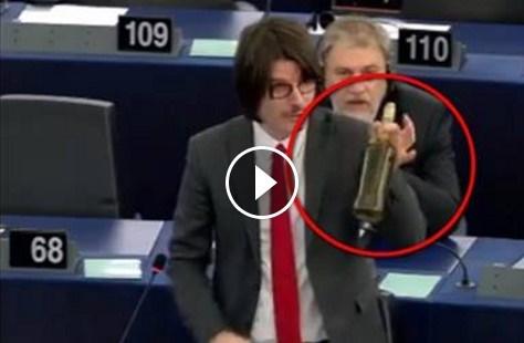 """""""Ho portato il VERO olio di oliva italiano in Parlamento Europeo"""".Altro che olio tunisino! IL VIDEO"""