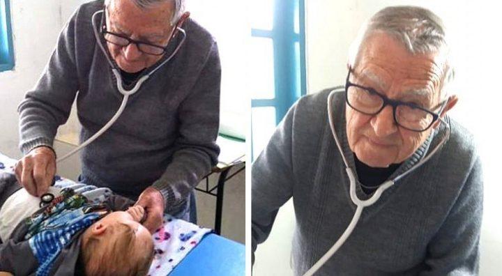 Il pediatra che a 92 anni visita gratis i bambini bisognosi, come se fossero suoi nipoti