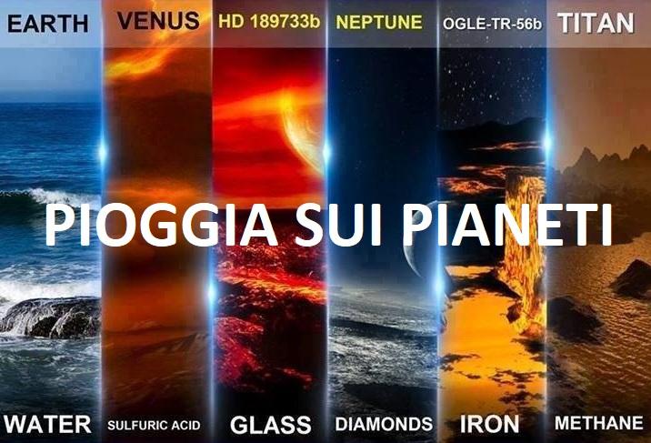Pioggia di Diamanti, cristalli vetro, ferro...Ecco cosa piove negli altri pianeti