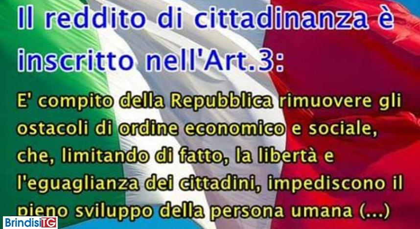 Reddito di cittadinanza: è inscritto negli  Art. 3 e 38 della Costituzione