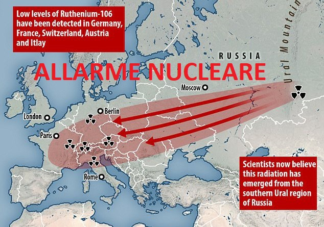 Allarme nucleare in Europa (Italia compresa): la Russia conferma