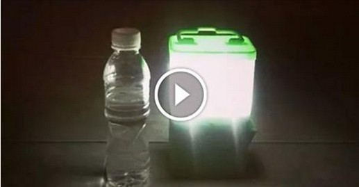SALt : la lampada che funziona con acqua e sale,senza corrente elettrica.VIDEO