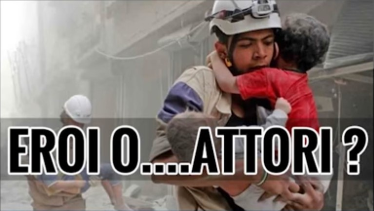 Caschi bianchi in Siria:Secondo voi questi sono eroi o attori?Guarda il video e capirai
