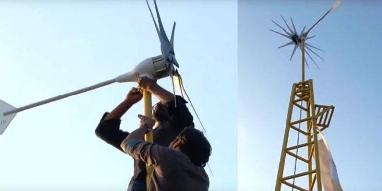 Turbina eolica in grado di generare 3/5 kW per alimentare una casa