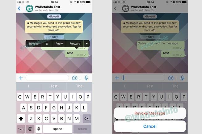 """Come cancellare i messaggi inviati per sbaglio su WhatsApp. La funzione """"Revoke"""".IL VIDEO"""