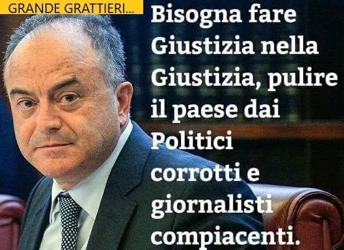 Grattieri: bisogna pulire il paese dai politici corrotti e dai giornalisti compiacenti