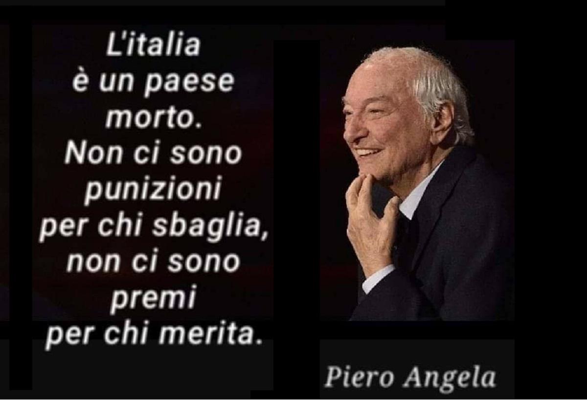 L'intervista a Piero Angela: L'Italia e'un paese morto, non ci sono punizioni per chi sbaglia, non ci sono premi per chi merita