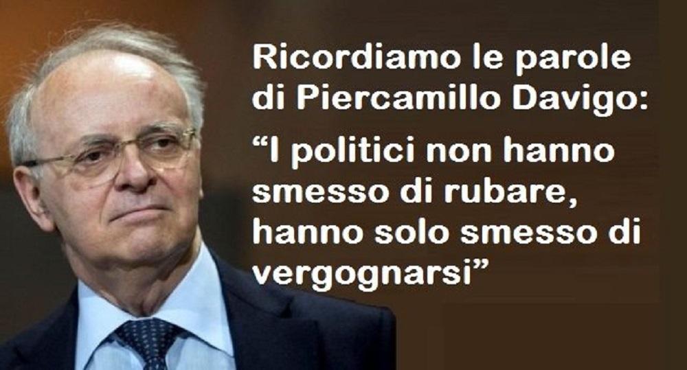 """Piercamillo Davigo: """"I politici non hanno smesso di rubare, hanno solo smesso di vergognarsi"""""""